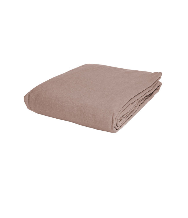 Linge Particulier Fitted sheet linen - nude