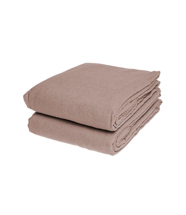 Linge Particulier Duvet cover linen - nude