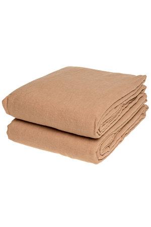Linge Particulier Flat sheet linen - moka