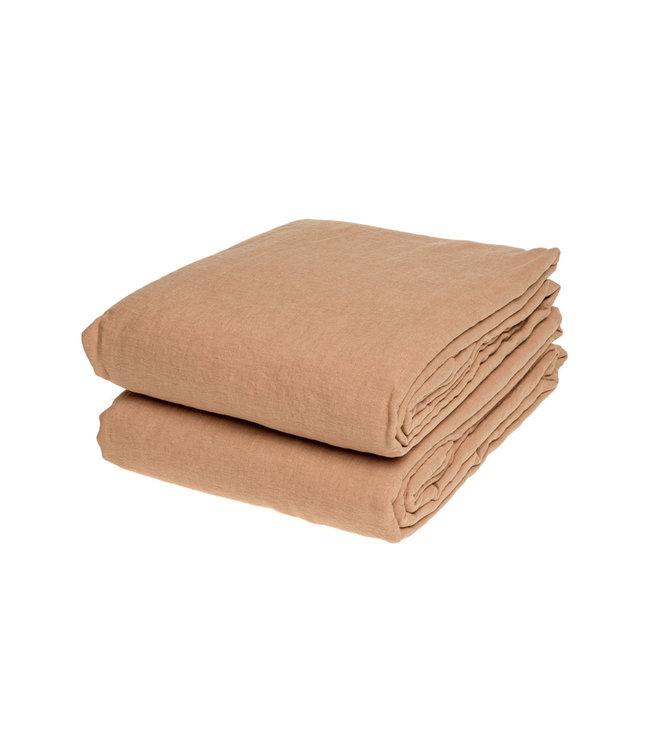 Duvet cover linen - moka