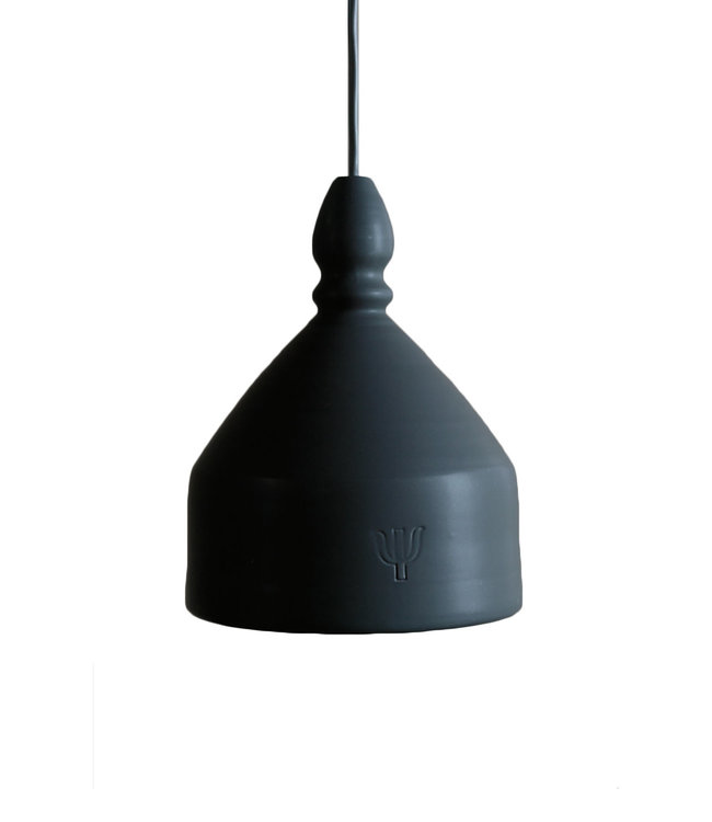 Ceramic hanging lamp - black