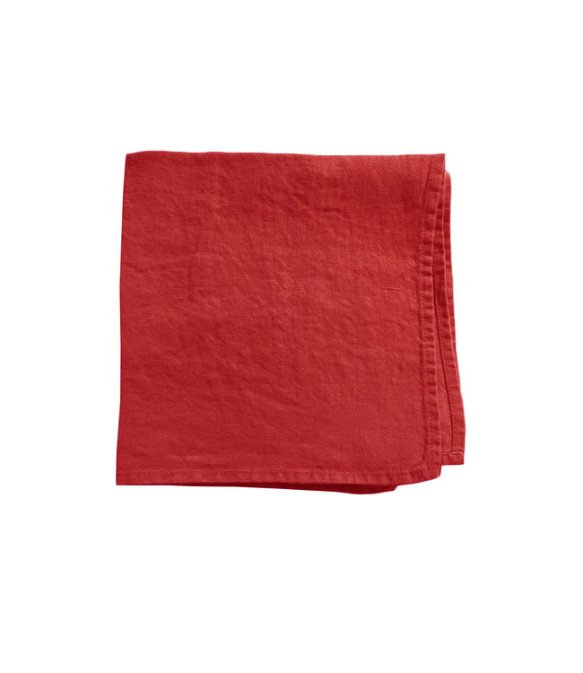 Linge Particulier Servet linnen - carmine red