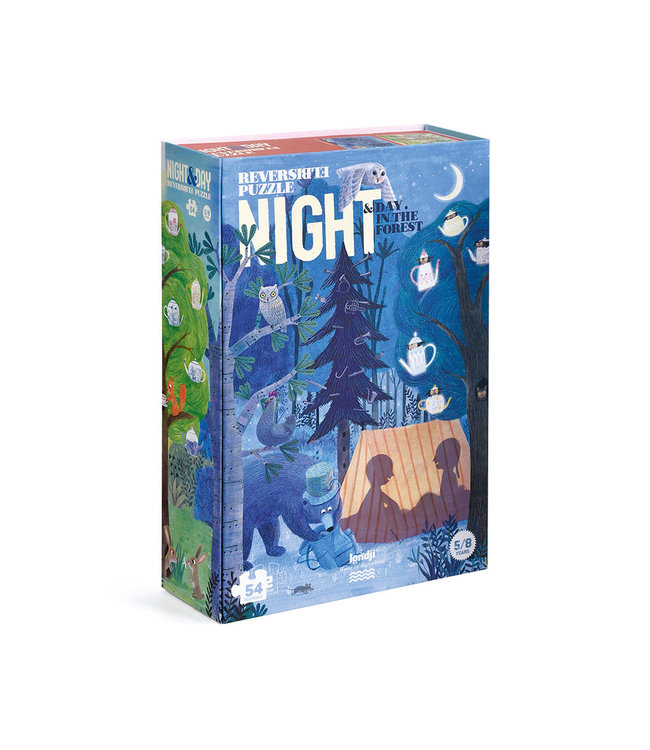 Puzzel  'Night & day in the forest'