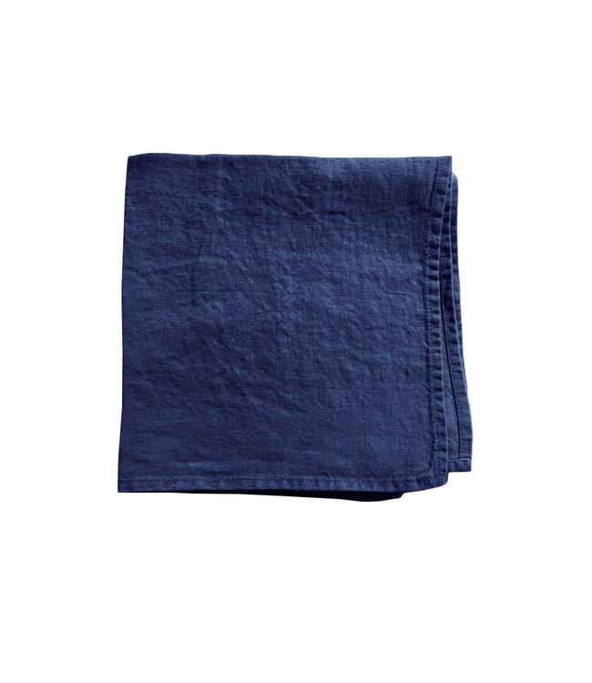 Linge Particulier Servet linnen - midnight blue