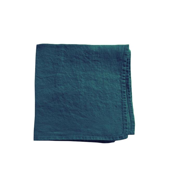 Linge Particulier Servet linnen - duck blue