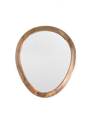 Couleur Locale Mirror brass - copper - oval - S