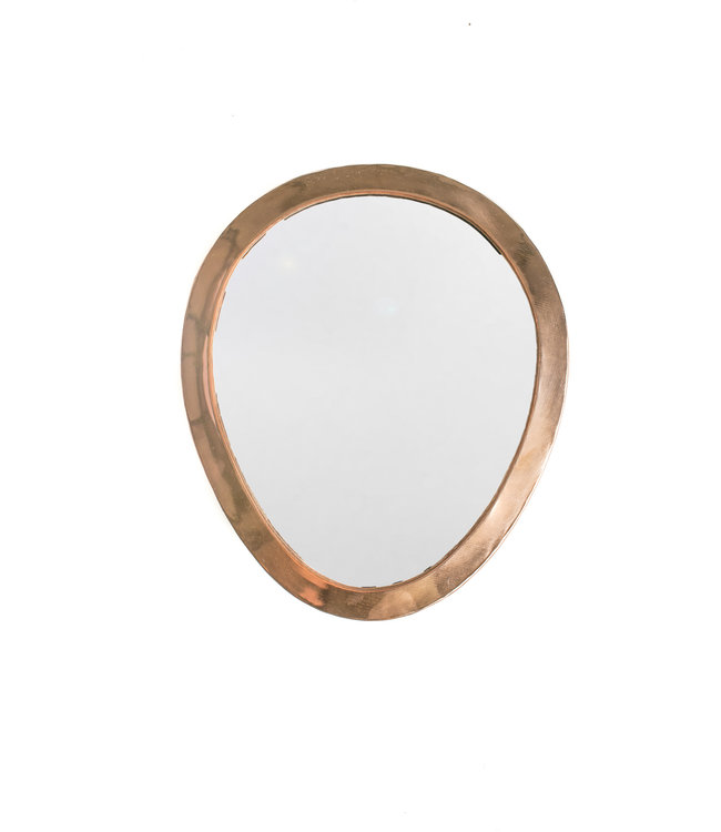 Couleur Locale Mirror brass - copper - oval - S