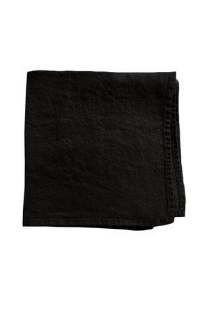 Linge Particulier Servet linnen - black