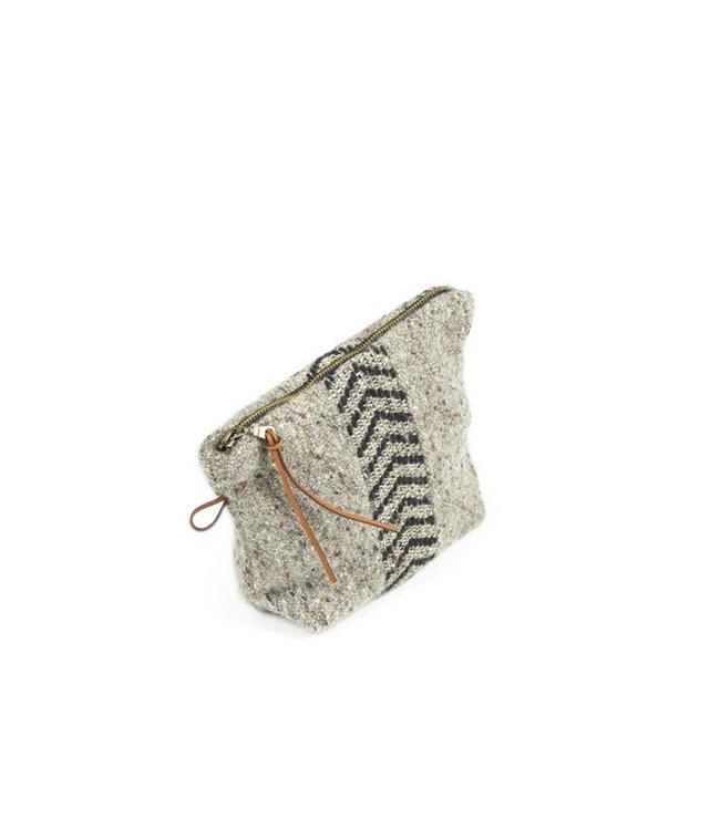 Jules pouch - black herringbone