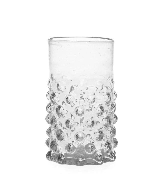 Mouth blown bubble glass - transparent