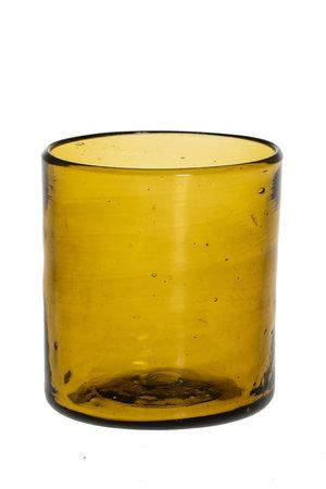 Mondgeblazen recht glas - amber