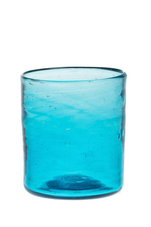 Mouth blown glass straight - turquoise