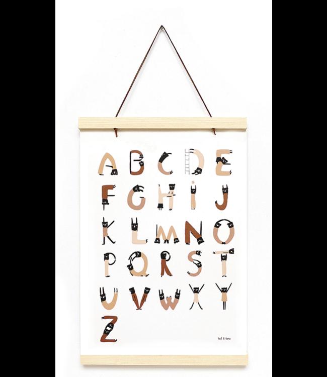 ABC acrobats print & frame