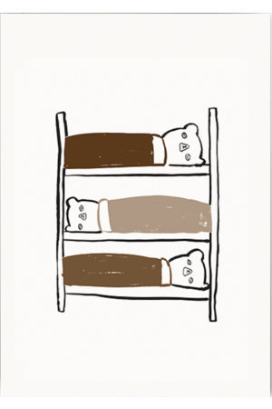 Ted & Tone 'Bunkbed' poster