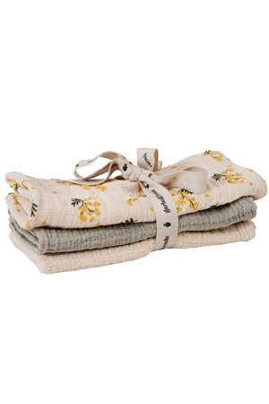garbo&friends Mimosa muslin burp cloth - set van 3