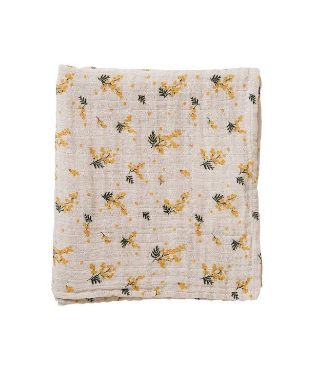 Mimosa muslin swaddle blanket