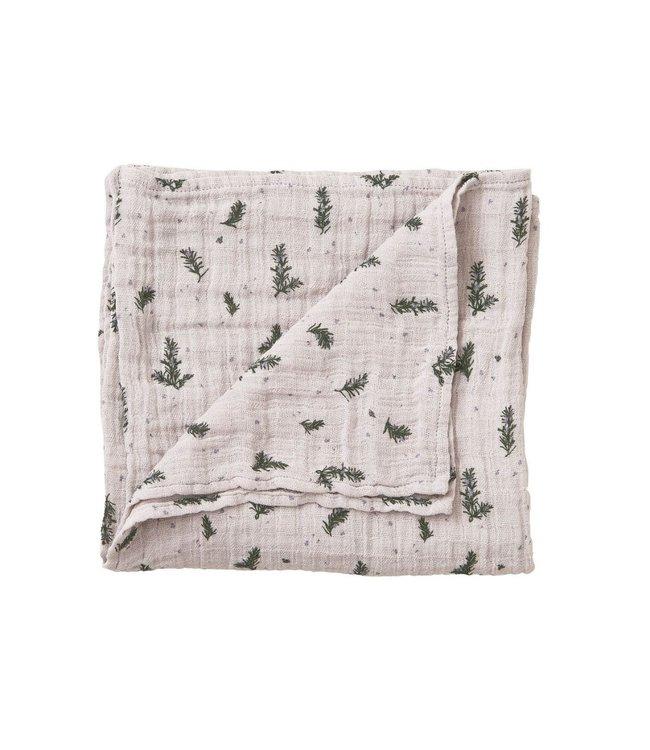 Rosemary muslin swaddle blanket