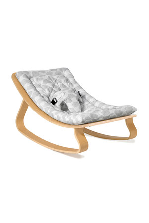 Levo beech wood baby bouncer - cloud