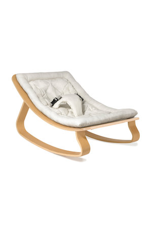 Levo beech wood baby bouncer - white