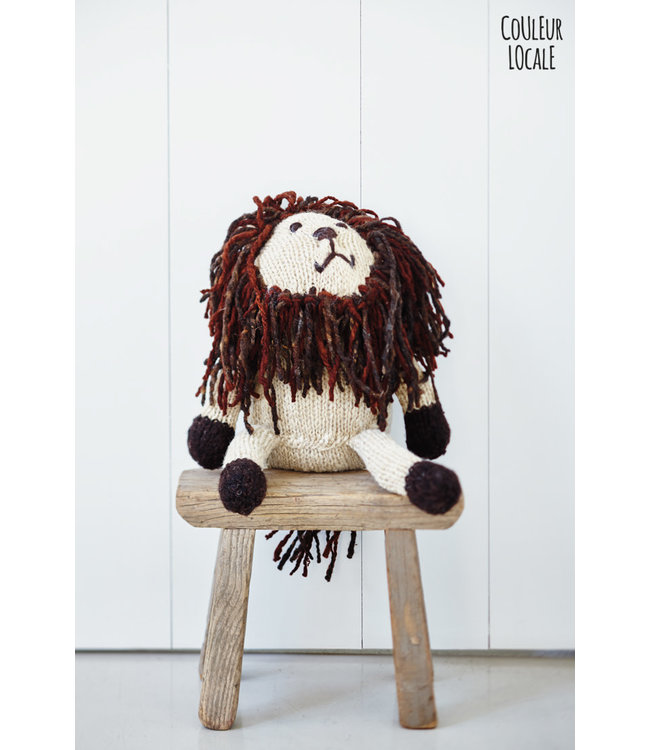 Woolen lion with long manes