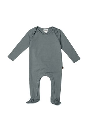 Kidwild Collective Organic footed jumpsuit- petrol