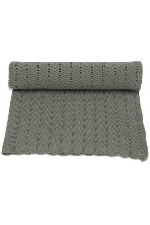Konges Sløjd Blanket pointelle  deux - ivy green