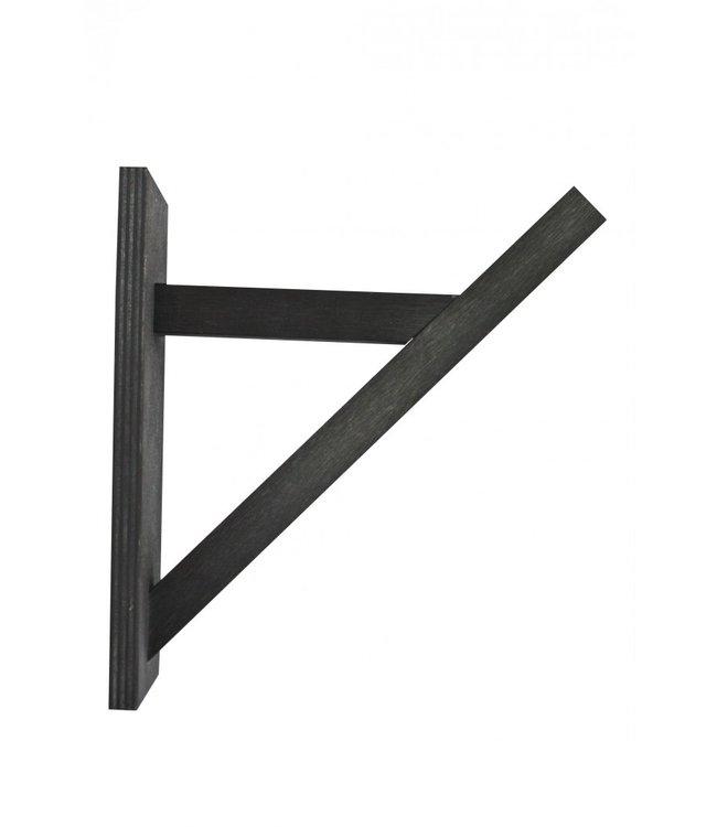 Wooden bracket - black