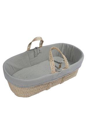 Numero 74 Moses basket- bed linen - silver grey
