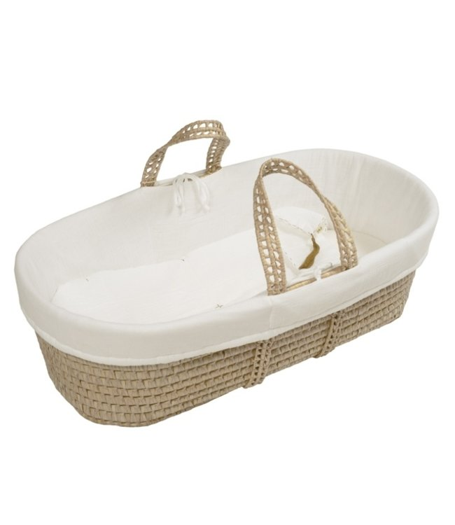 Bed linen for moses basket - natural