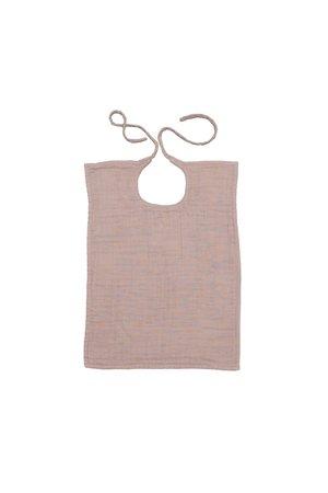Numero 74 Baby bib square - dusty pink