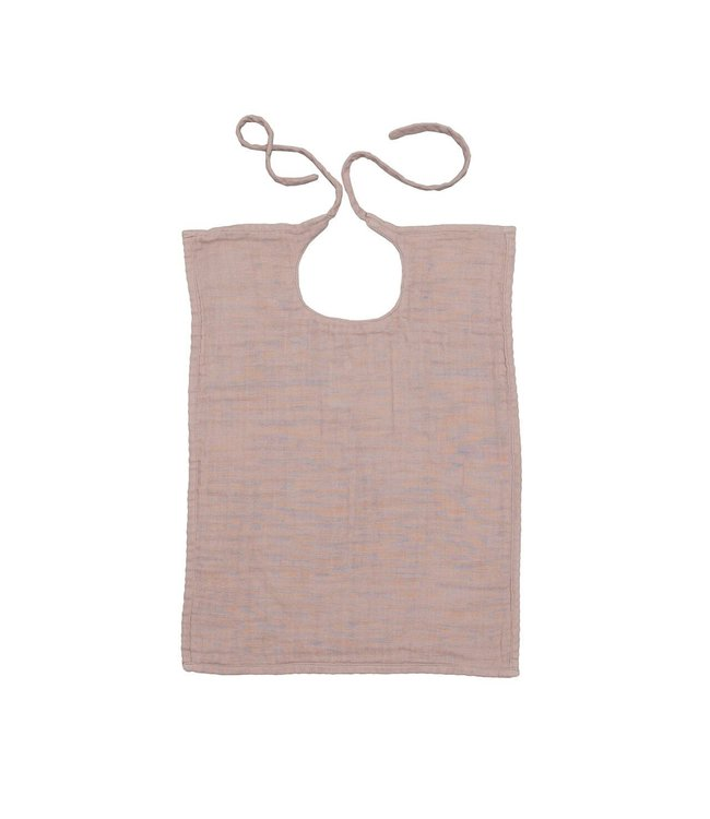 Numero 74 Baby bib square - dusty pink