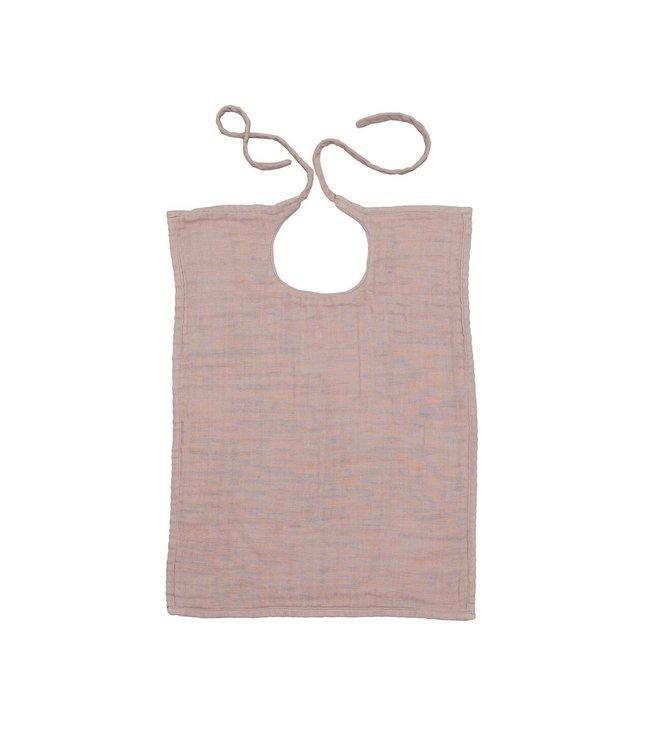 Numero 74 Baby slabbetje rechthoekig - dusty pink