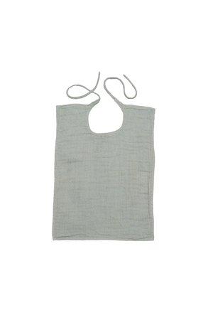 Numero 74 Baby bib square - silver grey