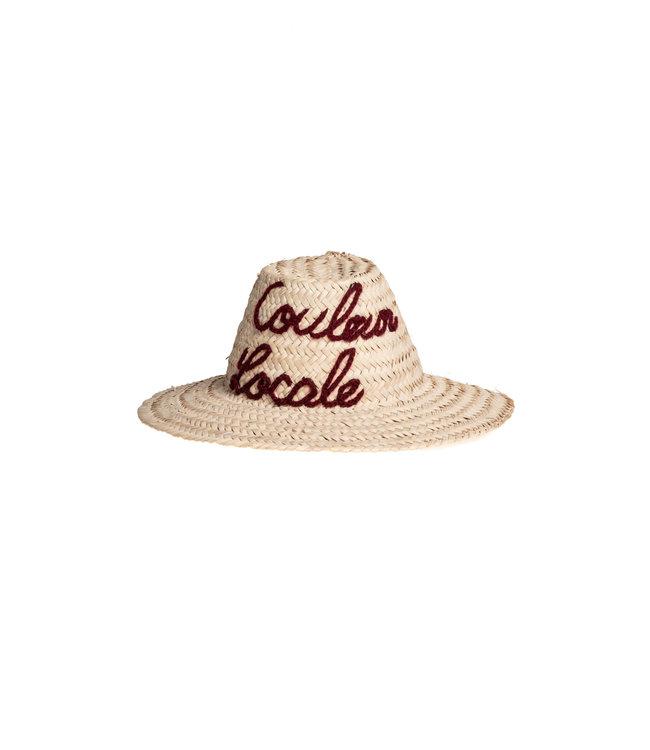 Hat palm leaves 'Couleur Locale'