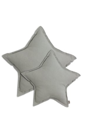 Numero 74 Star cushion - silver grey