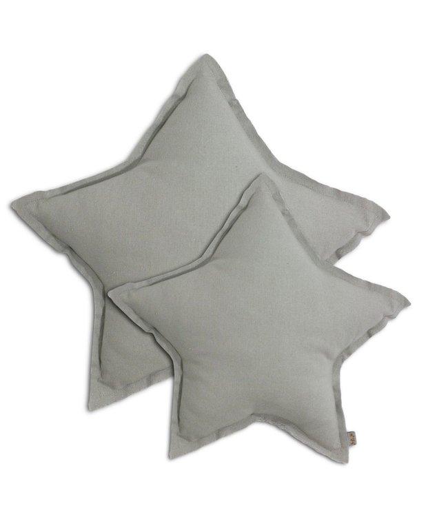 Ster kussen  - silver grey