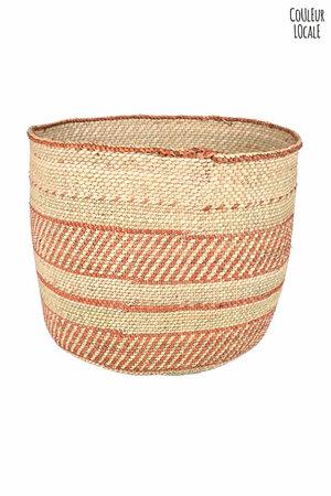 Basket Iringa Udongo - red pattern