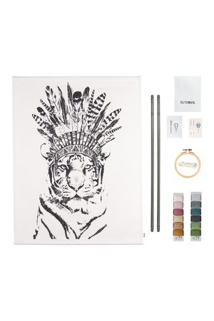 Numero 74 Crazy animal embroidery kit - tiger