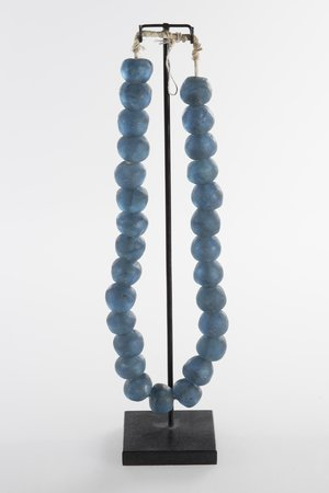 Glass beads turquoise L - Ghana