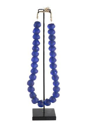 Glass beads blue L - Ghana