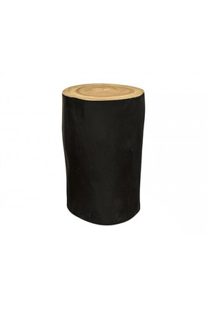 Zwarte boomstam palm kruk
