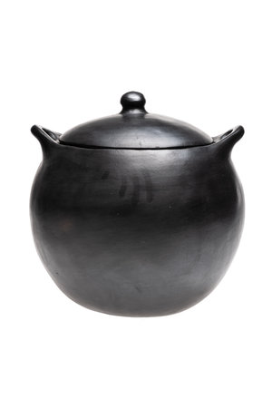 Round cooking pot with lid