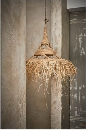 Couleur Locale Sisal hanglamp met franjes -  Marokko