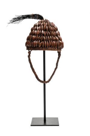 Tribaal hoedje met zaad knopen - Lega, D.R. Congo