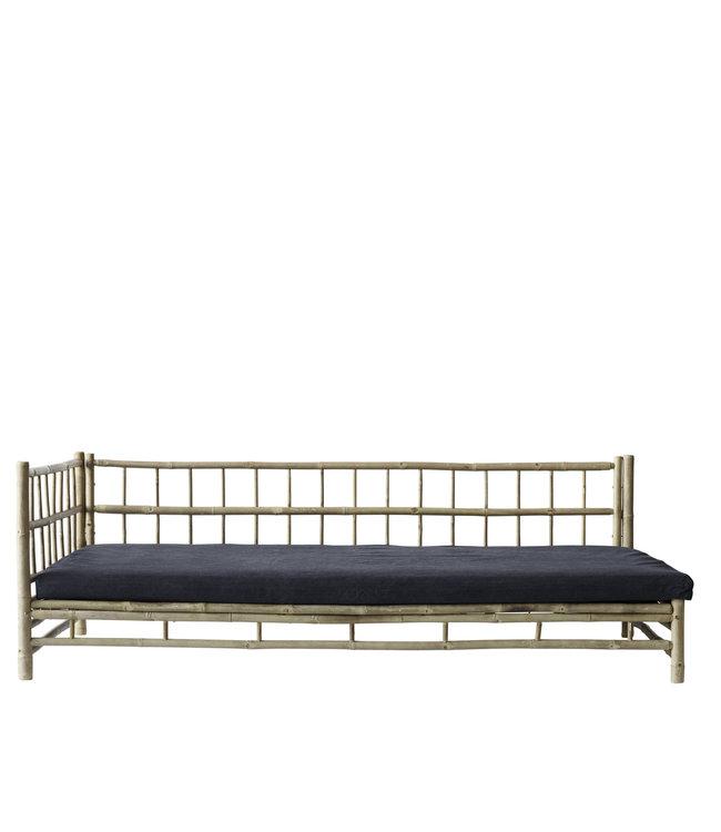 Tine K Home Bamboe lounge bed met donkergrijze matras, rechts
