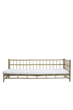 Tine K Home Bamboo lounge bed with white mattress, left