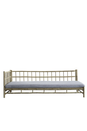 Tine K Home Bamboo lounge bed with grey mattress, right