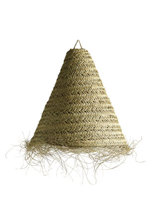 Tine K Home Lamp shade in woven palm leaves with fringes