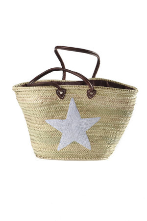 Couleur Locale Shopper 'witte ster'