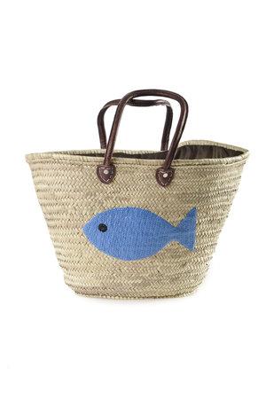 Couleur Locale Shopper 'blauwe vis'